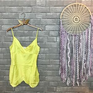 💫to the max // neon yellow silk satin camisole 10
